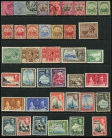 Lot 958 [5 of 6]:World on 57 Hagners with strength incl KGVI-QEII Aden, Antigua, Ascension, Bahamas, Barbados, Basutoland, Bermuda, Br Guiana, Br Honduras, Brunei selection (most without gum), plus Foreign incl Argentina, Belgium incl few Railways, Brazil, Bulgaria, Burma, etc. Mixed condition. 1.5kg (1,000s)