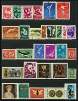 Lot 958 [6 of 6]:World on 57 Hagners with strength incl KGVI-QEII Aden, Antigua, Ascension, Bahamas, Barbados, Basutoland, Bermuda, Br Guiana, Br Honduras, Brunei selection (most without gum), plus Foreign incl Argentina, Belgium incl few Railways, Brazil, Bulgaria, Burma, etc. Mixed condition. 1.5kg (1,000s)