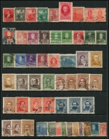 Lot 958 [1 of 6]:World on 57 Hagners with strength incl KGVI-QEII Aden, Antigua, Ascension, Bahamas, Barbados, Basutoland, Bermuda, Br Guiana, Br Honduras, Brunei selection (most without gum), plus Foreign incl Argentina, Belgium incl few Railways, Brazil, Bulgaria, Burma, etc. Mixed condition. 1.5kg (1,000s)