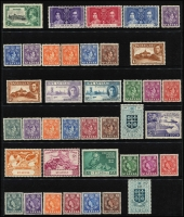 Lot 959 [2 of 7]:World on 55 Hagners incl KGVI-QEII selection of St Helena, St Kitts, St Lucia, St Vincent, Singapore, Br Solomon Islands KGVI Picts (13), South Africa, etc. Foreign incl San Marino, Spain. Most unused stamps are without gum. 2kg