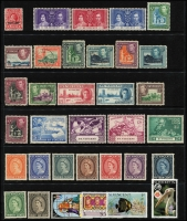 Lot 959 [3 of 7]:World on 55 Hagners incl KGVI-QEII selection of St Helena, St Kitts, St Lucia, St Vincent, Singapore, Br Solomon Islands KGVI Picts (13), South Africa, etc. Foreign incl San Marino, Spain. Most unused stamps are without gum. 2kg