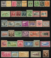 Lot 959 [4 of 7]:World on 55 Hagners incl KGVI-QEII selection of St Helena, St Kitts, St Lucia, St Vincent, Singapore, Br Solomon Islands KGVI Picts (13), South Africa, etc. Foreign incl San Marino, Spain. Most unused stamps are without gum. 2kg