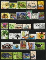 Lot 959 [5 of 7]:World on 55 Hagners incl KGVI-QEII selection of St Helena, St Kitts, St Lucia, St Vincent, Singapore, Br Solomon Islands KGVI Picts (13), South Africa, etc. Foreign incl San Marino, Spain. Most unused stamps are without gum. 2kg