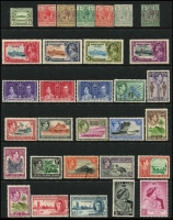 Lot 959 [6 of 7]:World on 55 Hagners incl KGVI-QEII selection of St Helena, St Kitts, St Lucia, St Vincent, Singapore, Br Solomon Islands KGVI Picts (13), South Africa, etc. Foreign incl San Marino, Spain. Most unused stamps are without gum. 2kg