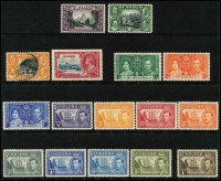 Lot 959 [1 of 7]:World on 55 Hagners incl KGVI-QEII selection of St Helena, St Kitts, St Lucia, St Vincent, Singapore, Br Solomon Islands KGVI Picts (13), South Africa, etc. Foreign incl San Marino, Spain. Most unused stamps are without gum. 2kg