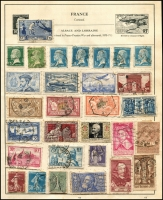 Lot 931 [2 of 5]:World Collection in Strand Stamp Album (c.1933) incl Austria few earlies, Belgium, Denmark, France 1938 World Football Cup, Germany & few States, Greece, Hungary, Italy, Iran, Poland, Siam, Spain, Yugoslavia, etc. Mixed condition. (100s)