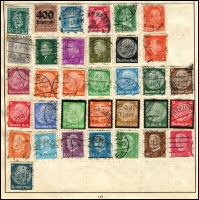 Lot 931 [3 of 5]:World Collection in Strand Stamp Album (c.1933) incl Austria few earlies, Belgium, Denmark, France 1938 World Football Cup, Germany & few States, Greece, Hungary, Italy, Iran, Poland, Siam, Spain, Yugoslavia, etc. Mixed condition. (100s)