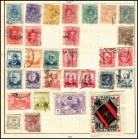 Lot 931 [4 of 5]:World Collection in Strand Stamp Album (c.1933) incl Austria few earlies, Belgium, Denmark, France 1938 World Football Cup, Germany & few States, Greece, Hungary, Italy, Iran, Poland, Siam, Spain, Yugoslavia, etc. Mixed condition. (100s)