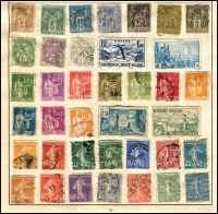 Lot 931 [1 of 5]:World Collection in Strand Stamp Album (c.1933) incl Austria few earlies, Belgium, Denmark, France 1938 World Football Cup, Germany & few States, Greece, Hungary, Italy, Iran, Poland, Siam, Spain, Yugoslavia, etc. Mixed condition. (100s)