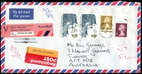 Lot 966 [4 of 8]:World Covers selection incl Australia 1977 $10 Painting unaddressed FDC, India 1984 Forts FDC, Malaysia 1973 3c Forces Mail to Australia, China, Great Britain range of recent commercial covers (20+, some registered) & range of 1976-91 unaddressed FDCs (15), Norfolk Island 1962 Fish (set of 6 on neatly typed Wesley FDCs), Switzerland 'MISSENT/TO/THAILAND' boxed cachet, USA, etc. Generally fine. (90+)