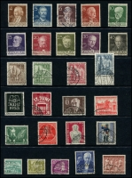 Lot 1429 [5 of 8]:1949 Buildings complete to 1965 (ex 1949 Relief Fund & M/S, 1964 commems) on 13 Hagners with range of later issues to 1992, also additional 1952 Olympics (4, on piece), 1953 Church (4, on piece), several issues on pieces with commem cancels. Catalogue including additional issues STC £2,750. Very fine used throughout. (288 items)