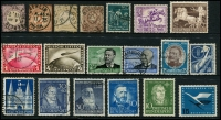 Lot 1420:1872-1953 Collection incl 1872 ¼g, 2½g & 5g, 1928-31 Zeppelin 1m, 2m, 1934 Colonisers 25pf, 1934 Airs 2m & 3m, 1940 Brown Ribbon (no gum), West Germany 1951 Pestalozzi 30pf+10pf, 1952 Dunant 30pf +10pf, Telephone Service, 1953 Transport Exhib 30pf, all used, plus 1952 Luther 10pf MUH. Generally fine. (19)