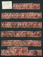 Lot 1421 [2 of 11]:1899-1920 Accumulation on 15 Hagners with good selection of Germania Mark values, many other issues. Much postmark interest, unsorted for varieties. Mixed condition. Generally fine. (100s)