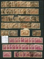 Lot 1421 [4 of 11]:1899-1920 Accumulation on 15 Hagners with good selection of Germania Mark values, many other issues. Much postmark interest, unsorted for varieties. Mixed condition. Generally fine. (100s)