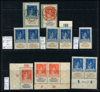 Lot 1421 [5 of 11]:1899-1920 Accumulation on 15 Hagners with good selection of Germania Mark values, many other issues. Much postmark interest, unsorted for varieties. Mixed condition. Generally fine. (100s)