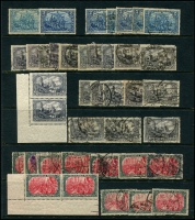 Lot 1421 [6 of 11]:1899-1920 Accumulation on 15 Hagners with good selection of Germania Mark values, many other issues. Much postmark interest, unsorted for varieties. Mixed condition. Generally fine. (100s)