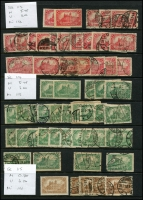 Lot 1421 [1 of 11]:1899-1920 Accumulation on 15 Hagners with good selection of Germania Mark values, many other issues. Much postmark interest, unsorted for varieties. Mixed condition. Generally fine. (100s)