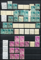 Lot 1424 [3 of 10]:Allied Occupation British & American Zone 1948-50 Buildings extensive accumulation mostly sorted into types with MUH, MLH & used issues, includes 18 covers/cards incl some to overseas destinations. A copy of Bautenserie 1948 Spezialkatalog A-H', with loose-leaf pages to 1994 in German. Cat value stated to be in €1,000s. Ideal lot for specialist. (1,000s)