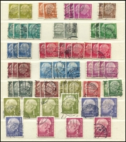 Lot 1427 [5 of 7]:1954-60 Heuss Collection incl numerous issues either MUH or fine used in strips, blocks, pairs, etc, 1957 fluorescent set of 7, Booklet panes & 10pf booklet complete, many other values included. Also 1952 Telephone Service fine used & West Berlin 1959 Heuss set of 5 in MUH marginal pairs. Very high catalogue value. (Few 100)