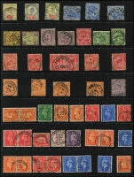 Lot 1657 [6 of 7]:Postmarks 1890s-1960s CDS Collection with many towns represented, strength in QV & KEVII issues, few Irish cancels, QV Jersey (2), etc. (c.300)