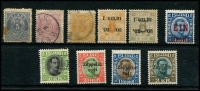Lot 1685 [2 of 2]:1876-1931 incl 1876 P12½ 5a no gum, 20a used, 1882-95 3a used, 1921-30 'EIN/KRÓNA' on 40a, MLH, 1931-37 10kr 'TO(LLUR)' cancel (Fiscal), 1929 Air (plane) opt, MLH, 1931 Zeppelin Opts (3). Faults & blemishes throughout. Cat £1,500+. (11)