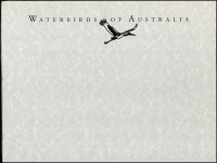 Lot 1054 [1 of 4]:Australia: The Australian Airmail Catalogue by Eustis, 1990 5th Edition, dust jacket fault. Stamping the Nation: Australia Since Federation, published by APost, 2001, 172pp paperback, also APost 1991 'Waterbirds of Australia' limited edition print (2, numbered '1084 of 5000') in special folder with 'Certificate of Authenticity'. 2kg (3 Items)