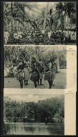 Lot 1434 [3 of 9]:C1900 Black & White Postcards: all with 'Nauru. (Marshall-Inseln.)' showing local scenes incl Families, Huts, Lagoons, Costumes (or lack there of), Fish, Church, Village Scenes, etc. All divided back & unaddressed. (23)