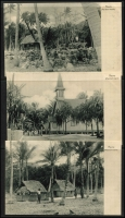 Lot 1434 [4 of 9]:C1900 Black & White Postcards: all with 'Nauru. (Marshall-Inseln.)' showing local scenes incl Families, Huts, Lagoons, Costumes (or lack there of), Fish, Church, Village Scenes, etc. All divided back & unaddressed. (23)