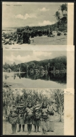 Lot 1434 [6 of 9]:C1900 Black & White Postcards: all with 'Nauru. (Marshall-Inseln.)' showing local scenes incl Families, Huts, Lagoons, Costumes (or lack there of), Fish, Church, Village Scenes, etc. All divided back & unaddressed. (23)