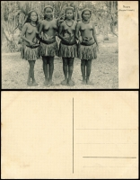 Lot 1434 [1 of 9]:C1900 Black & White Postcards: all with 'Nauru. (Marshall-Inseln.)' showing local scenes incl Families, Huts, Lagoons, Costumes (or lack there of), Fish, Church, Village Scenes, etc. All divided back & unaddressed. (23)