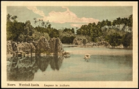Lot 1435 [4 of 4]:C1900 Coloured Postcards: all with 'Nauru. Marshall-Inseln.' showing local scenes incl 'Eingeborenenhütte in der Lagune.', 'Haus des Stationsleiters.', 'Ansicht der Ladebrücke No.2.', Lagune in Anibare.'. All divided back & unaddressed. Most with 'W. Storch Photo' printed on reverse. (4)