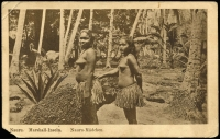 Lot 1436 [4 of 5]:C1900 Sepia Postcards: all with 'Nauru. Marshall-Inseln' showing local scenes incl 'Wasserholendes Mädchen', 'Eingeborene Kinder', 'Weg an der Lagune', 'Nauru-Mädchen' and 'Strand'. All divided back & unaddressed. Most with 'W. Storch Photo' printed on reverse. Odd minor blemish. (5)