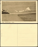 Lot 1436 [1 of 5]:C1900 Sepia Postcards: all with 'Nauru. Marshall-Inseln' showing local scenes incl 'Wasserholendes Mädchen', 'Eingeborene Kinder', 'Weg an der Lagune', 'Nauru-Mädchen' and 'Strand'. All divided back & unaddressed. Most with 'W. Storch Photo' printed on reverse. Odd minor blemish. (5)