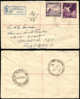 Lot 1433 [3 of 3]:1954-65 Registered Commercial Cover selection (all roughly opened) to New South Wales. Two covers at 1/0½d rate and 4 at 2/5d rate. Two different types of registration label. (6)