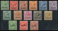Lot 1412 [2 of 2]:1916-23 Overprints At Centre ½d to 1/- (set of 11) and Opts at Base (4), SG #1-16. (15)