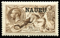 Lot 1414:1916-23 Seahorses DLR Printing 2/6d brown, with 1978 RPS (London) Certificate. SG #21, Cat £70.