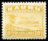 Lot 1418 [1 of 2]:1924-48 Ships set of 14 on mixed papers plus additional 3d shade. Some gum toning. SG #26A-39B. (15)