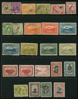 Lot 1307 [1 of 2]:New Guinea 1915-39 incl 1915-16 Roo 2/-, few unused 1939 Airs to 1/-, Papua incl 1932 Picts 1/3d, 2/- & 2/6d, used, PNG 1952 Picts 10/- (2), £1 all used, 1958-60 Picts 1/7d (2, one MUH), 1963 10/- (without gum) & £1 (MLH) both optd 'SPECIMEN', few later issues to 5k Bird. Mixed condition. (40)