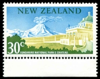 Lot 1785 [3 of 3]:1967 Pictorials 15c Tiki, 30c Tongariro Nat Park both Wmk inverted, plus Tongariro Nat Park No Watermark, SG #856w,859w,878c(V), Cat CP Cat NZ $260. (3)
