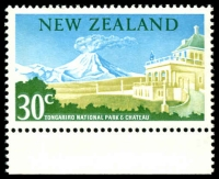 Lot 1785 [1 of 3]:1967 Pictorials 15c Tiki, 30c Tongariro Nat Park both Wmk inverted, plus Tongariro Nat Park No Watermark, SG #856w,859w,878c(V), Cat CP Cat NZ $260. (3)