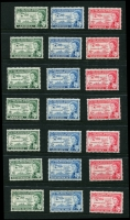Lot 982 [5 of 6]:1953-54 Royal Visit: (13, complete), 1958 Caribbean Federation (30, complete), 1964 Shakespeare (25, complete), 1966 Royal Visit (34), Football (68, incomplete, incl Ghana, South Arabian Fed [both sets], no M/Ss), 1972 Silver Wedding (78), on 16 Hagners. Cat £150+. Many MUH. (c.200)