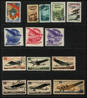 Lot 992 [2 of 10]:Aircraft/Aeroplanes: from A to Y countries in 16 folders on c.500 Hagners (!!!) from Albania with 1925 Airs (7), 1930 Airs to 2f, 1950 Airs (6, 10l, 20l used), Comoros 1998-89 Aviation Pioneers (7, CTO), Denmark 1934 Airs (5, used), Guinea 1959 Airs (2 sets, MUH), Mozambique, New Guinea, New Zealand, USA, etc. Numerous M/Ss, se-tenant strips, blocks, etc, too many to mention plus range of countries with 'issued in excess of postal needs' sets & M/Ss (some CTO), Also SG Collect Aircraft on Stamps. (2009, 2nd edition, few pen notations noted & Michel Flugzeuge-Ganze Welt 2016). Mostly MUH. Generally very fine. Cat in excess of £2,500. 18.7kg (1,000s)
