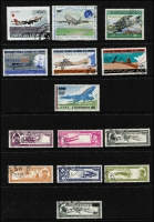 Lot 992 [4 of 10]:Aircraft/Aeroplanes: from A to Y countries in 16 folders on c.500 Hagners (!!!) from Albania with 1925 Airs (7), 1930 Airs to 2f, 1950 Airs (6, 10l, 20l used), Comoros 1998-89 Aviation Pioneers (7, CTO), Denmark 1934 Airs (5, used), Guinea 1959 Airs (2 sets, MUH), Mozambique, New Guinea, New Zealand, USA, etc. Numerous M/Ss, se-tenant strips, blocks, etc, too many to mention plus range of countries with 'issued in excess of postal needs' sets & M/Ss (some CTO), Also SG Collect Aircraft on Stamps. (2009, 2nd edition, few pen notations noted & Michel Flugzeuge-Ganze Welt 2016). Mostly MUH. Generally very fine. Cat in excess of £2,500. 18.7kg (1,000s)