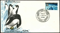 Lot 991 [6 of 8]:Antarctic Selection: 1959-89 from Australia incl 1957 set of 4 (2 FDCs), 1972 Cook set, 1979 Flight, 1982 Mawson (4 sets in blocks), 1983 Bird strips (4, all with the 4 Base cancels), also several Packs incl 1966 Defins (stamps askew), French Southern & Antarctic Territories 1989 Atlantic Treaty (3 unaddressed FDCs), Ross Dependency 1957 Picts (5 covers, various commem cancels). (52 Covers & 5 packs)