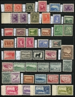 Lot 1351 [1 of 3]:1880-1941 Collection incl few earlies with 1897 400th Anniv 5c (3, incl marginal pair all MUH), many later odd values throughout, 1931 15c Air, Wmk S/Ways MUH, 1935 Jubilee, 1937 Coronation Pictorials (2 sets, one with many issues MUH & and additional 48c plus fine used set), etc. (80+)