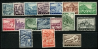 Lot 1693 [3 of 3]:1953 National Products set (7, MLH), 1961 Tourist Publicity (17, MUH), SG #706-12,850-66, Cat £175. (24)