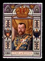 Lot 9:Russia: c.1916 multi-coloured label with portrait 