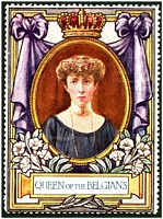 Lot 15:Belgium: c.1916 multi-coloured label with portrait of the Queen of the Belgians issued for Lord Roberts Memorial Fund.