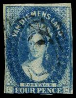 Lot 1524:1855 Imperf Chalon Wmk Large Star SG #17