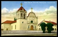 Lot 203:United States of America: multi-coloured PPC 'San Carlos Church Monterey, California'.